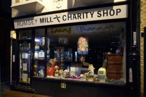 MIll Road night 04 Romsey Mill Charity Shop